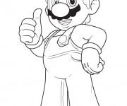 Coloriage dessin  Mario Bros 16