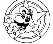 Coloriage Personnage Mario