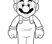 Coloriage Portrait de Super Mario