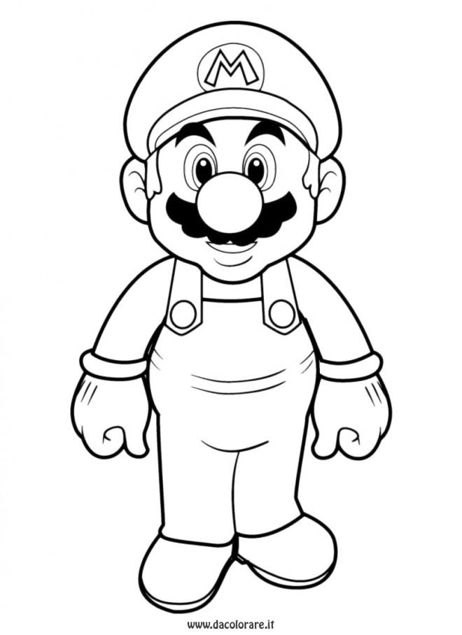 Coloriage et dessins gratuits Portrait de Super Mario à imprimer