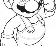 Coloriage dessin  Super Mario 3