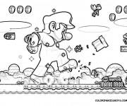 Coloriage dessin  Super Mario 8