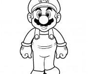 Coloriage Super Mario à découper