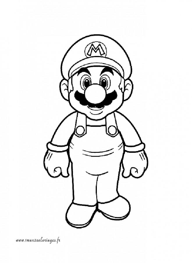Coloriage et dessins gratuits Super Mario à découper à imprimer