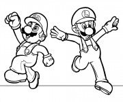 Coloriage Super Mario  facile