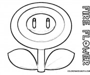 Coloriage Super Mario Fleur De Feu Dessin Gratuit A Imprimer