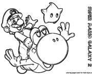 Coloriage Super Mario Galaxy  au crayon