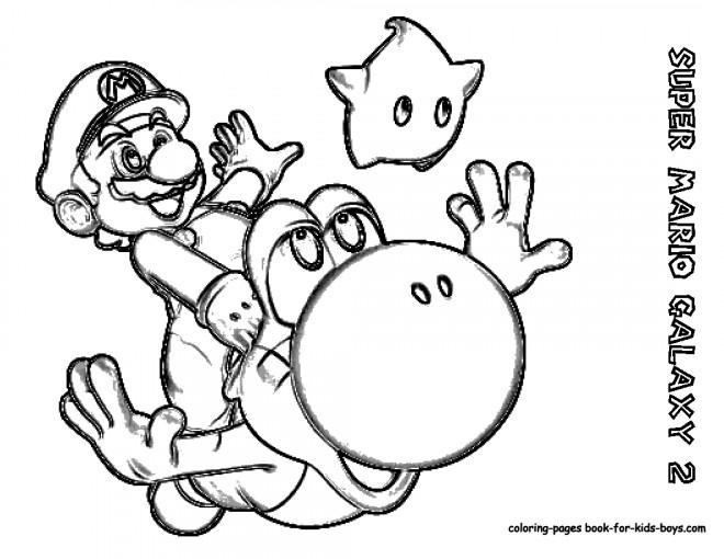 Coloriage et dessins gratuits Super Mario Galaxy  au crayon à imprimer