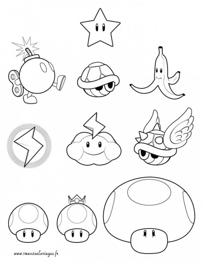 Coloriage Super Mario Maternelle Dessin Gratuit à Imprimer