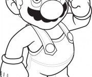 Coloriage Super Mario stylisé
