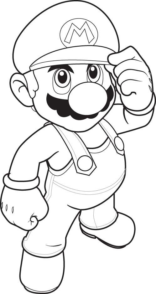 Coloriage et dessins gratuits Super Mario stylisé à imprimer