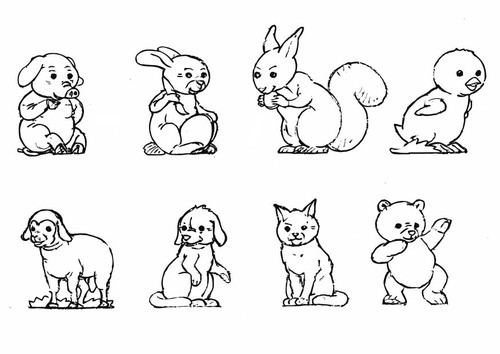 Coloriage et dessins gratuits Animaux Mignon en couleur à imprimer