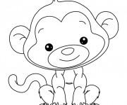 Coloriage et dessins gratuit Beau petit Singe à imprimer
