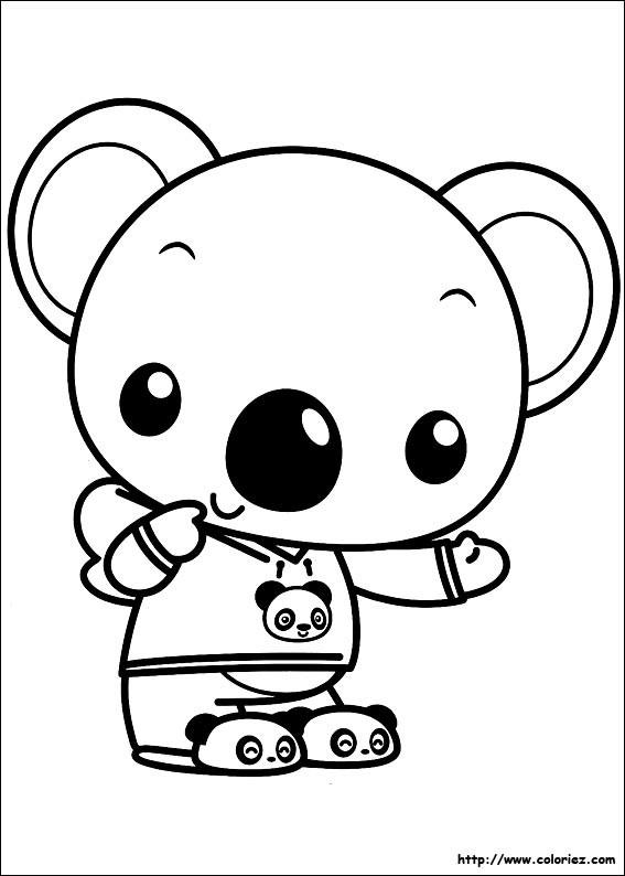 Coloriage Bébé Koala Trop Mignon à Décorer