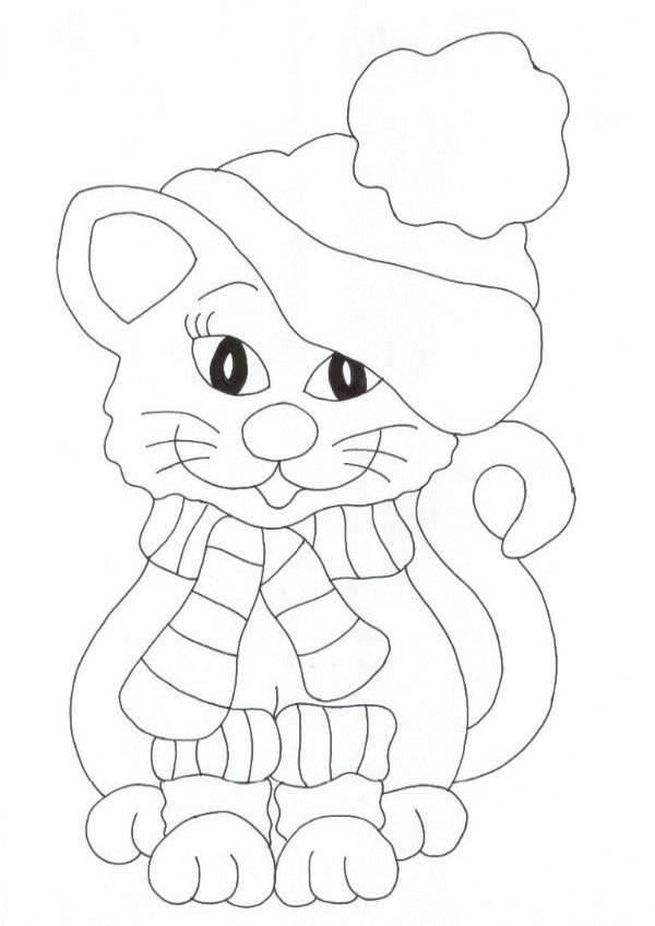 Coloriage chat mignon d couper dessin gratuit imprimer - Coloriage chaton a imprimer gratuit ...