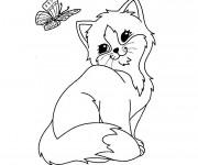 Coloriage et dessins gratuit Chaton Trop Mignon à imprimer