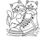 Coloriage et dessins gratuit Chatons trop Mignon à imprimer