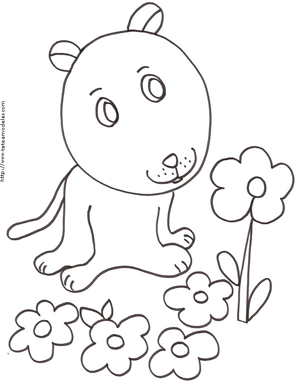 Coloriage chien mignon simple dessin gratuit imprimer - Dessin chien mignon ...