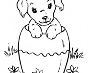Coloriage Chiot adorable