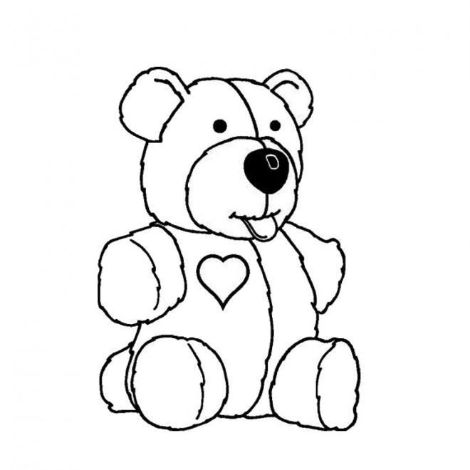 Coloriage peluche trop mignonne dessin gratuit imprimer - Coloriage de chiot a imprimer ...