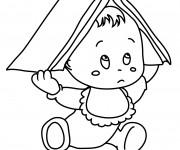 Coloriage et dessins gratuit Un Bébé Trop Mignon à imprimer