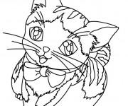 Coloriage et dessins gratuit Un Chat Trop Mignon à imprimer