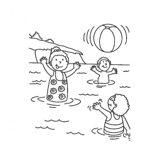 Coloriage vacances mer dessin gratuit imprimer - Dessin vacances mer ...
