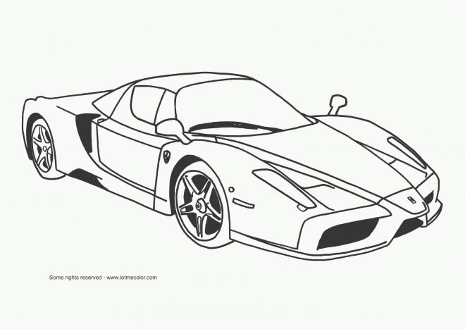 Coloriage et dessins gratuits voiture de course à imprimer
