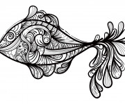 Coloriage Abstrait Poisson Art