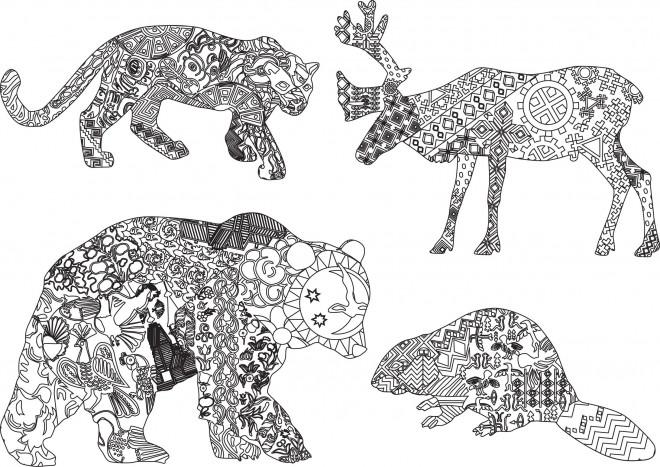 Coloriage Animaux Sauvages Mandala Dessin Gratuit à Imprimer