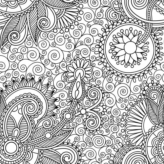 Coloriage Anti Stress Nature Difficile Dessin Gratuit A Imprimer