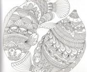 Coloriage Anti-Stress Poissons Artistique