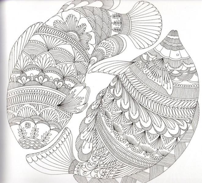 Coloriage et dessins gratuits Anti-Stress Poissons Artistique à imprimer