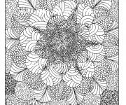 Coloriage et dessins gratuit Anti-Stress Psychédélique à imprimer