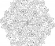 Coloriage Fleurs Anti-Stress