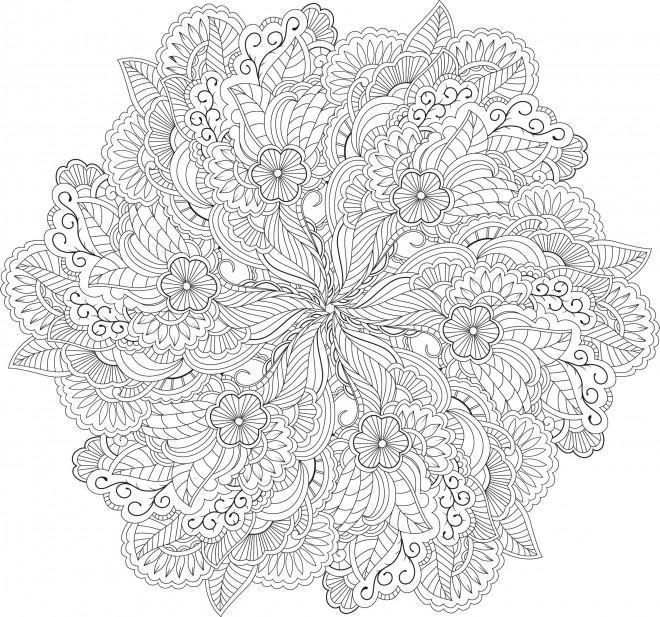 Coloriage et dessins gratuits Fleurs Anti-Stress à imprimer