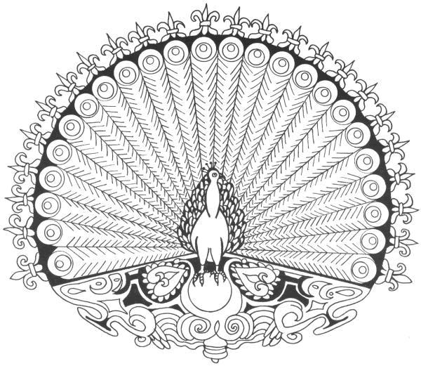 Coloriage mandala paon difficile dessin gratuit imprimer - Mandala beau et difficile ...