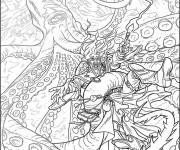 Coloriage Zen Animaux dessin animé