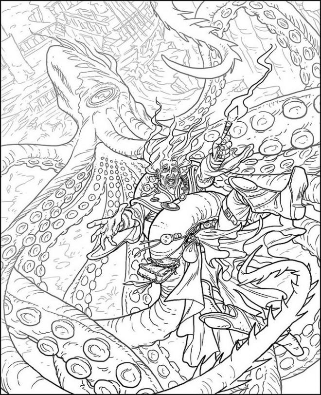 Coloriage et dessins gratuits Zen Animaux dessin animé à imprimer