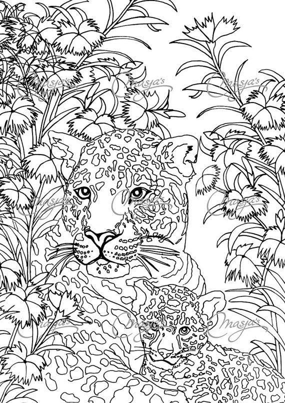 Coloriage et dessins gratuits Zen Anti-Stress Panthère à imprimer