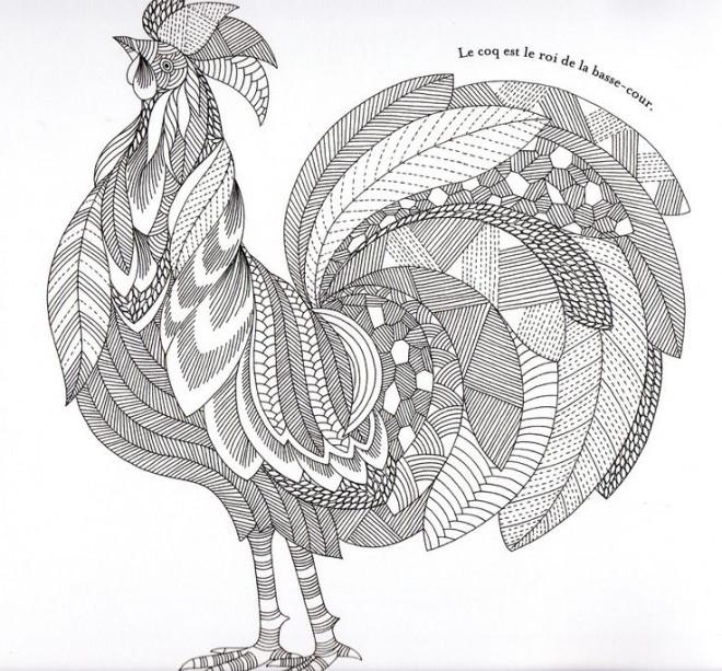 Coloriage Zen Difficile.Coloriage Zen Coq Difficile Dessin Gratuit A Imprimer