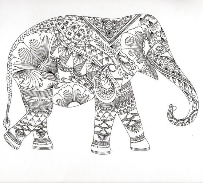 Coloriage et dessins gratuits Zen Éléphant stylisé à imprimer