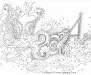 Coloriage Zen Hippocampe Pour Adulte