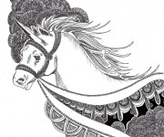 Coloriage Zen Unicorne à colorier