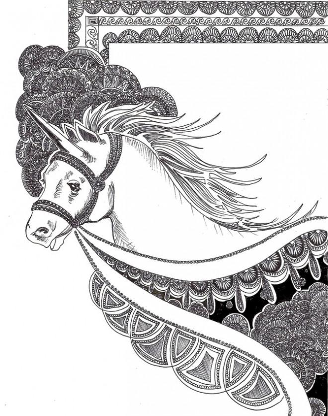 Coloriage et dessins gratuits Zen Unicorne à colorier à imprimer