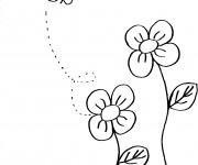 Coloriage et dessins gratuit Abeille en couleur à imprimer