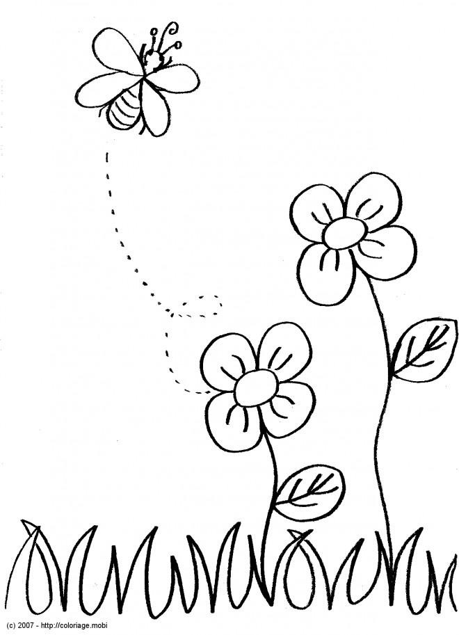 Coloriage et dessins gratuits Abeille en couleur à imprimer
