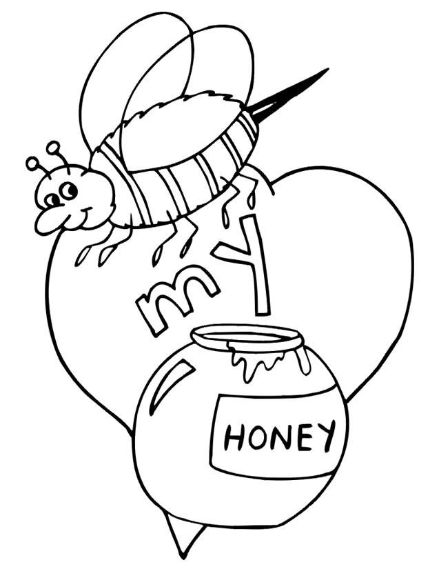 Coloriage et dessins gratuits Abeille et Le Miel pour enfant à imprimer