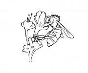 Coloriage et dessins gratuit Abeille maternelle à imprimer