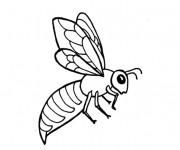 Coloriage Abeille qui ouvre ses ailes